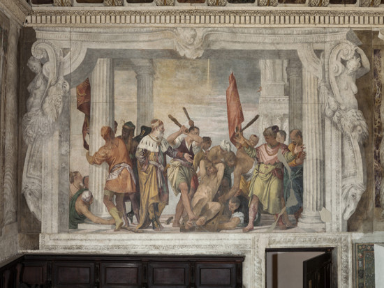 Veronese's fresco The Martyrdom of Saint Sebastian, visited with Venice Masters of Colour private guided tour in Venice